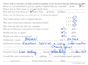 Customer comment card - 26066